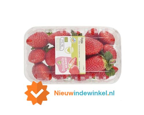Albert Heijn Biologische aardbeien nieuwindewinkel.nl