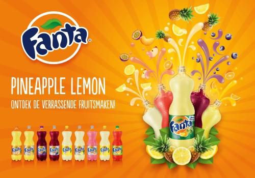 Fanta Pineapple Lemon-smaken